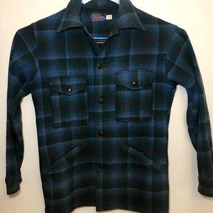Pendleton Mackinaw Wool Jacket Mens M Blue